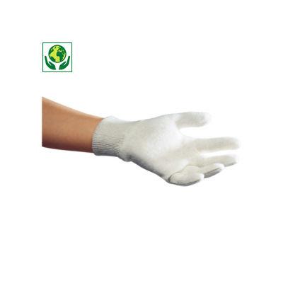 Úpletové bavlněné rukavice