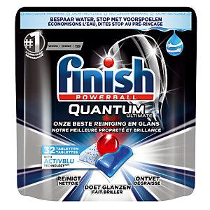 Vaatwasmachinetabletten lange cyclus Finish Calgonit Quantum, 32 tabletten