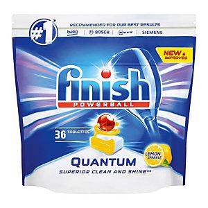 Vaatwasmachinetabletten lange cyclus Finish Calgonit Quantum citroen, 36 tabletten
