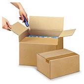 Variabox kasse med variabel højde - Enkelt bølgepap