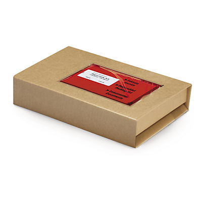 Varifix - Självhäftande, bruna pappomslag - A4-format