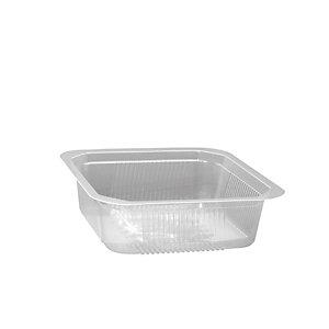Vaschetta gastronomia in PP Linea Professional Catering, Termosaldabile, Riciclabile, 13,7 x 13,7 x 6 cm, Capacità 700 ml, Trasparente (confezione 750 pezzi)