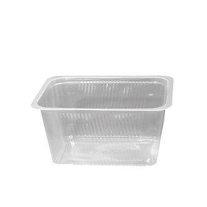 Vaschetta gastronomia in PP Linea Professional Catering, Termosaldabile, Riciclabile, 19 x 13,7 x 9,5 cm, Capacità 1.500 ml, Trasparente (confezione 500 pezzi)