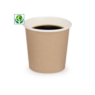 Vaso de cartón marrón