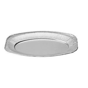 Vassoio grande da portata in alluminio per alimenti, Formato V43, 43 x 28,6 x 2,3 cm (confezione 10 pezzi)