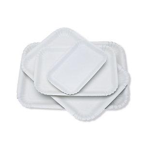 Vassoio in cartone non alimentare, 25,5 x 35 cm, Bianco