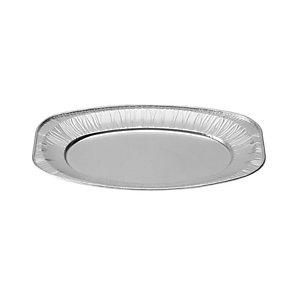 Vassoio maxi da portata in alluminio per alimenti, Formato V55, 54,8 x 35,9 x 2,2 cm (confezione 10 pezzi)