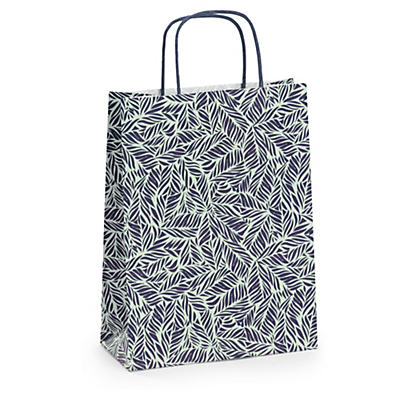 Vegetal design Kraft paper carrier bags
