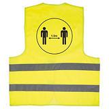 Veiligheidshesje met logo voor social distancing 1,5 m