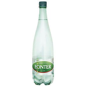 FONT VELLA Agua mineral con gas, botella de plástico, 1 l