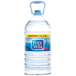 FONT VELLA Agua mineral sin gas, botella de plástico, 6,25 l