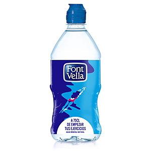 FONT VELLA Agua mineral sin gas, botella de plástico 75 cl