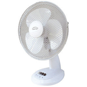 Ventilateur de table, diamètre 30 cm - 40 W, blanc