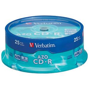 Verbatim AZO CD-R 700 MB / 80 minuti, Velocità 52x, Spindle da 25 dischi