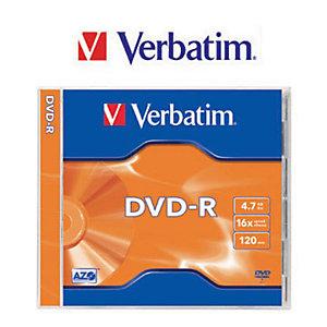 Verbatim Azo, Discos vírgenes DVD-R, 4,7GB / 120min, 16x de velocidad