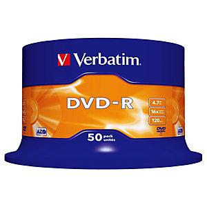 Verbatim DVD-R 4,7 GB / 120 minuti, Velocità 16x, Spindle da 50 dischi