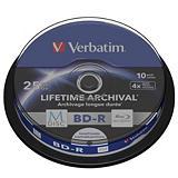 Verbatim MDISC BD-R Blu-Ray vírgenes grabables de 25 GB, 4x de velocidad Spindle de 10 unidades