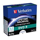 Verbatim MDISC DVD R vírgenes grabables de 4,7 GB, 4x de velocidad Paquete de 5 unidades con carcasa protectora