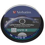 Verbatim MDISC DVD R vírgenes grabables de 4,7 GB, 4x de velocidad Spindle de 10 unidades