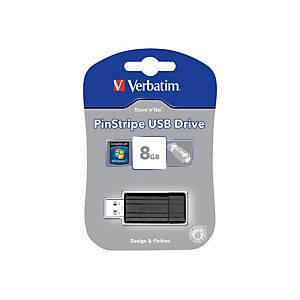 Verbatim Pen drive PinStripe, USB 2.0, 8 GB, Nero