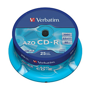 Verbatim Spindle de 25 CD-R grabables 700 MB