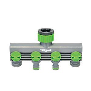 Verdemax Raccordo rubinetto - 4 uscite - Verdemax