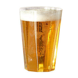 Verres à bière, en plastique transparent, 25 cl, colis de 60