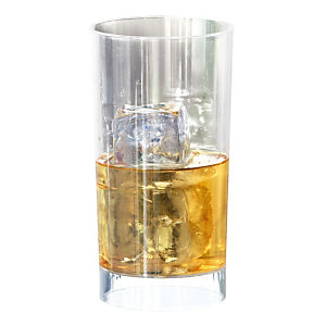 Verres à cocktail, en plastique transparent, 20 cl, colis de 60