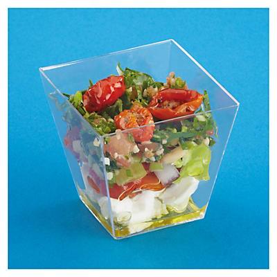Verrine plastique pyramidale