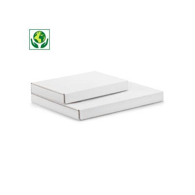 Versandkarton Flach-Pack mit Haftklebeverschluss, weiß 25 mm