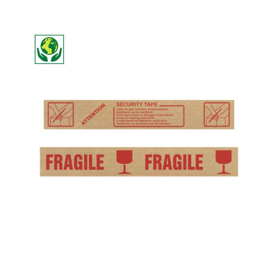 Bande gommée armée avec message pré-imprimé, 130 g/m²##Versterkte gegomde kleefband met voorbedrukte boodschap, 130 g/m²
