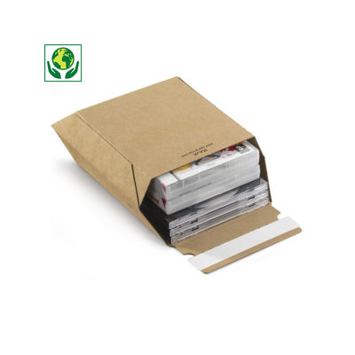 Versterkte kartonnen envelop met zelfklevende sluiting Maxi