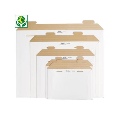 Versterkte kartonnen envelop - wit