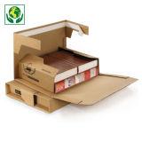 Versterkte postverpakking met zelfklevende sluiting - bruin
