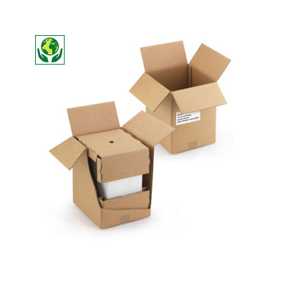 Caisse d'expédition pour carton de 6 bouteilles##Verzenddoos voor een karton van 6 flessen