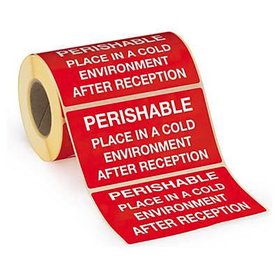 """Étiquette d'expédition """"périssable""""##Verzendetiket voor bederfelijke waar """"Perishable"""""""