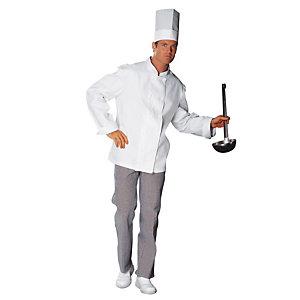 Veste cuisinier 100% coton blanc, taille 44