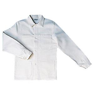 Veste de travail en coton blanc, taille L