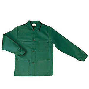 Veste de travail en coton vert bouteille, taille XL