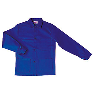 Veste de travail en polycoton bleu roi, taille L