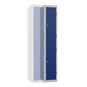 Vestiaire Budget 2 casiers - Elément Suivant - Corps Gris - Portes Bleu
