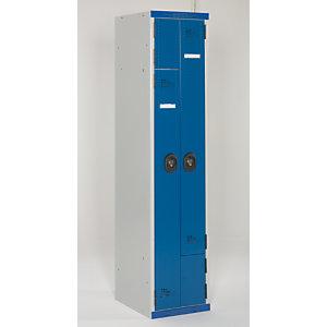 Vestiaire de bureau Z - Métal - Corps Gris - Portes Bleu