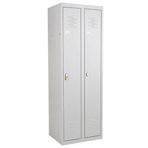 Vestiaire monobloc Primo Industrie propre 2 cases gris RAL 7035
