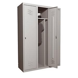 Vestiaire  monobloc Primo Industrie salissante 3 cases gris RAL 7035
