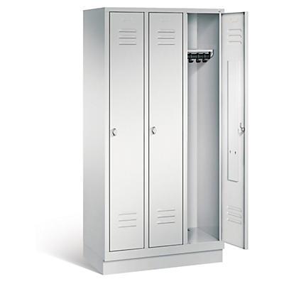 Vestiaire à portes grises##Garderobekast met grijze deuren
