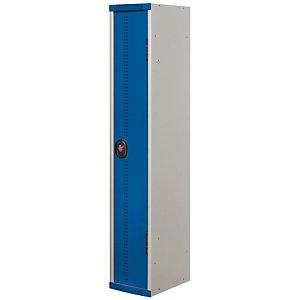 Vestiaire Team Color - Industrie propre - 1 colonne - Corps Gris - Porte Bleu
