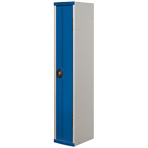 Vestiaire Team Color - Industrie salissante - 1 colonne - Corps Gris - Portes Bleu