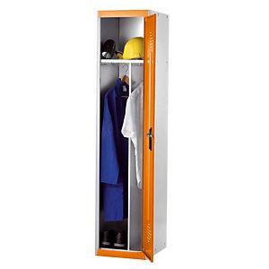 Vestiaires démontable Advantage Industrie Salissante gris/orange élément départ