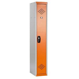 Vestiaires démontables Advantage Industrie Propre gris/orange élément départ