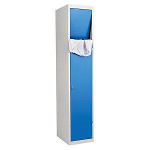 Vestiaires à linge sale monoblocs gris / bleu